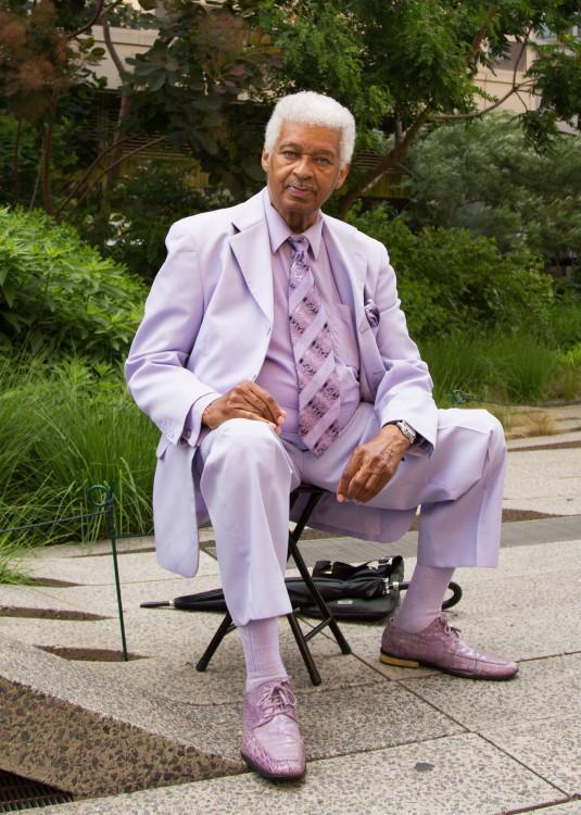sweet man in lavender