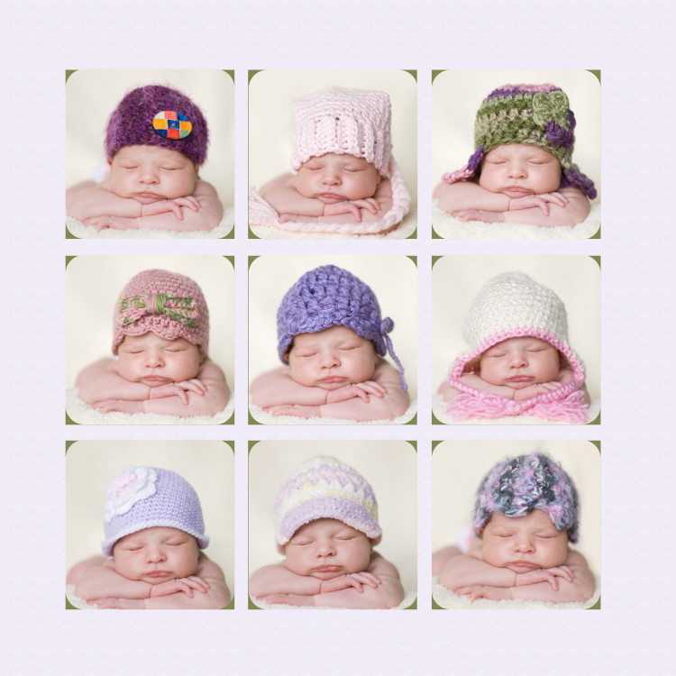 custom hand made newborn hats and photography props